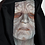 Palpatine silicone mask front view