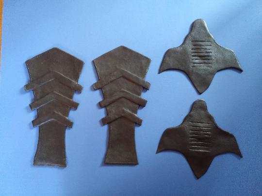 1989 Batman costume boot armour spats shins