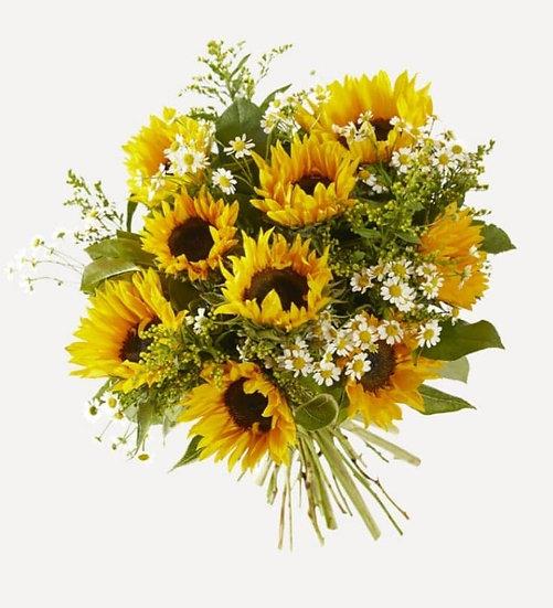 Boeket gemengd zonnebloemen