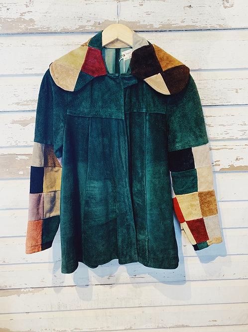 c.1960s Suede Patchwork Swing Jacket [XS]