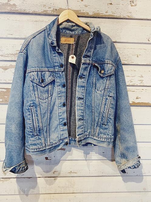 c.1980s Levi's Blanket Lined Denim Jacket [M]