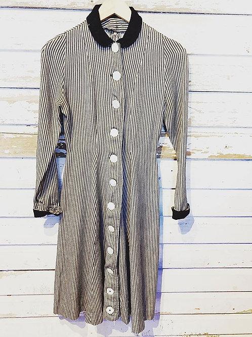 c. 1910 Antique Striped Dress [XS]
