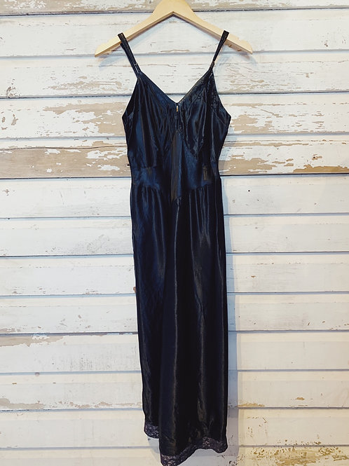 c.1950s Midnight Slip Dress [XS-M]