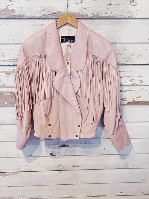 c.1980s Pink Lemonade Fringe Jacket [M] RESERVED DM for waitlist