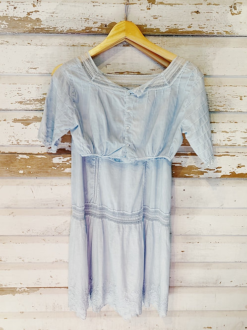 c.1910 Pale Blueberry Hand Dyed Edwardian Outfit