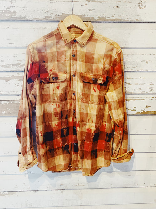 c. 1990's Buffalo Bleached Flannel [M]