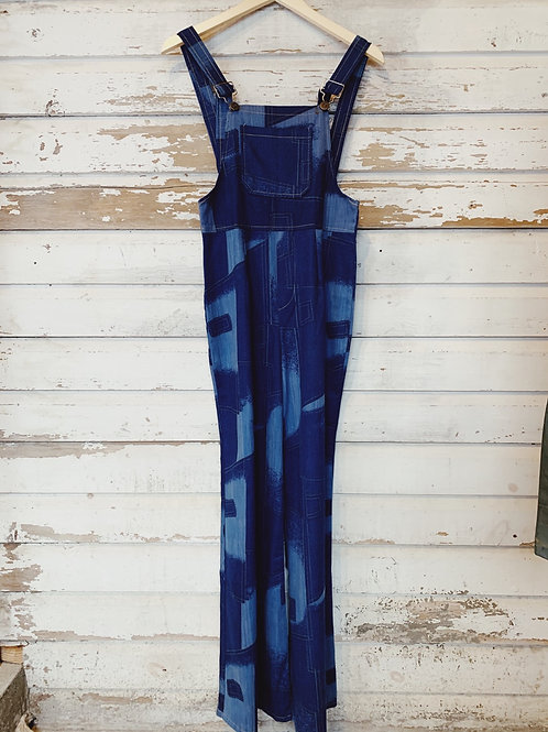 """c.1960s Patchwork Open Back Overall [28""""]"""