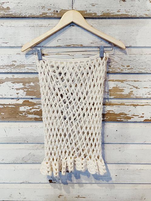 Vintage hand crochet net skirt [XS/S]