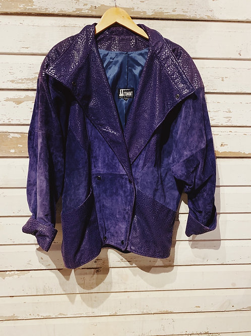 c.1980s Grape Suede Coat [L]