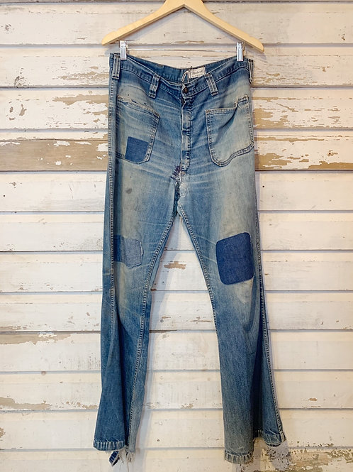 "c.1960s Patched Seafarer Denim [33""]"