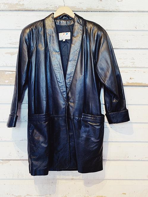 c. 1980's does 20's Leather Coat [S]