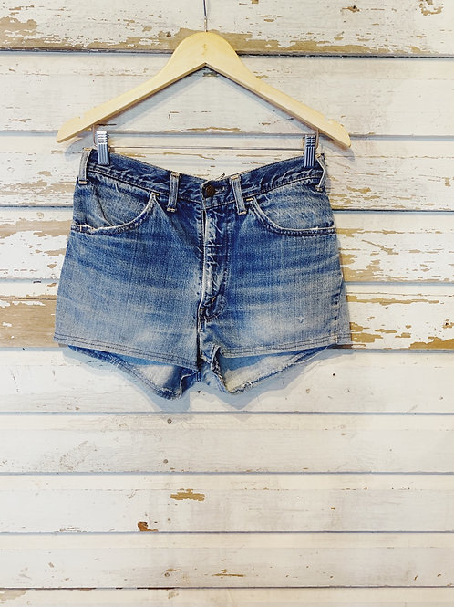 """c.1970s Levi's Big E Patchwork Shorts [30""""]"""