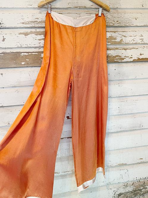 c. 1940's Terracotta Pajama Pants [XL]