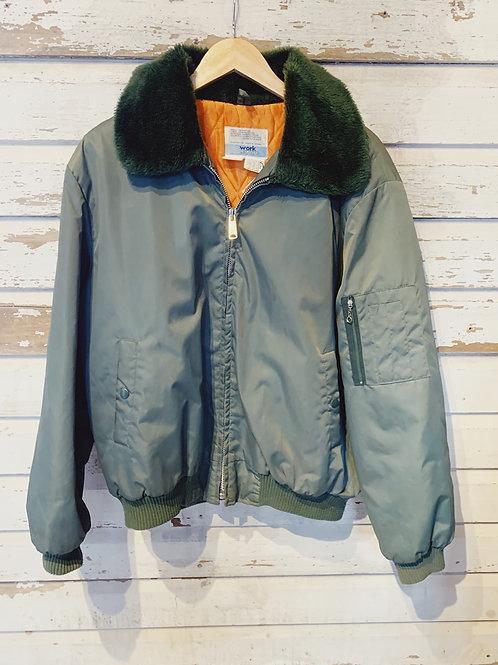 c.1970s Olive Workwear Jacket [XL]