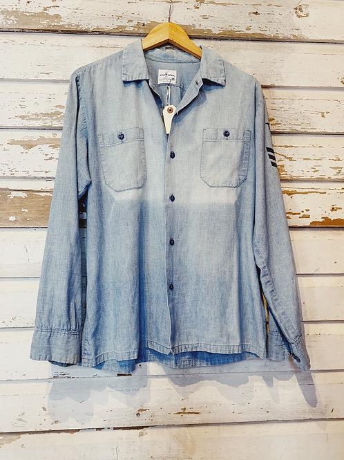 c.1960s Faded Seafarer Shirt [M/L]