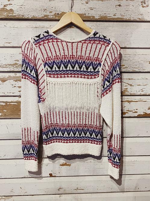 c.1980-90s Boucle Tribal Knit [S]