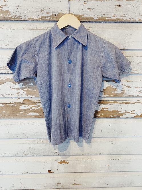 c.1940s-50s Chambray Selvedge Shirt [XXS]
