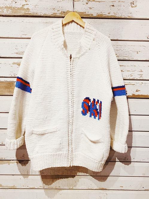 c.1960s Hand Knot Cowichan Ski [XL]
