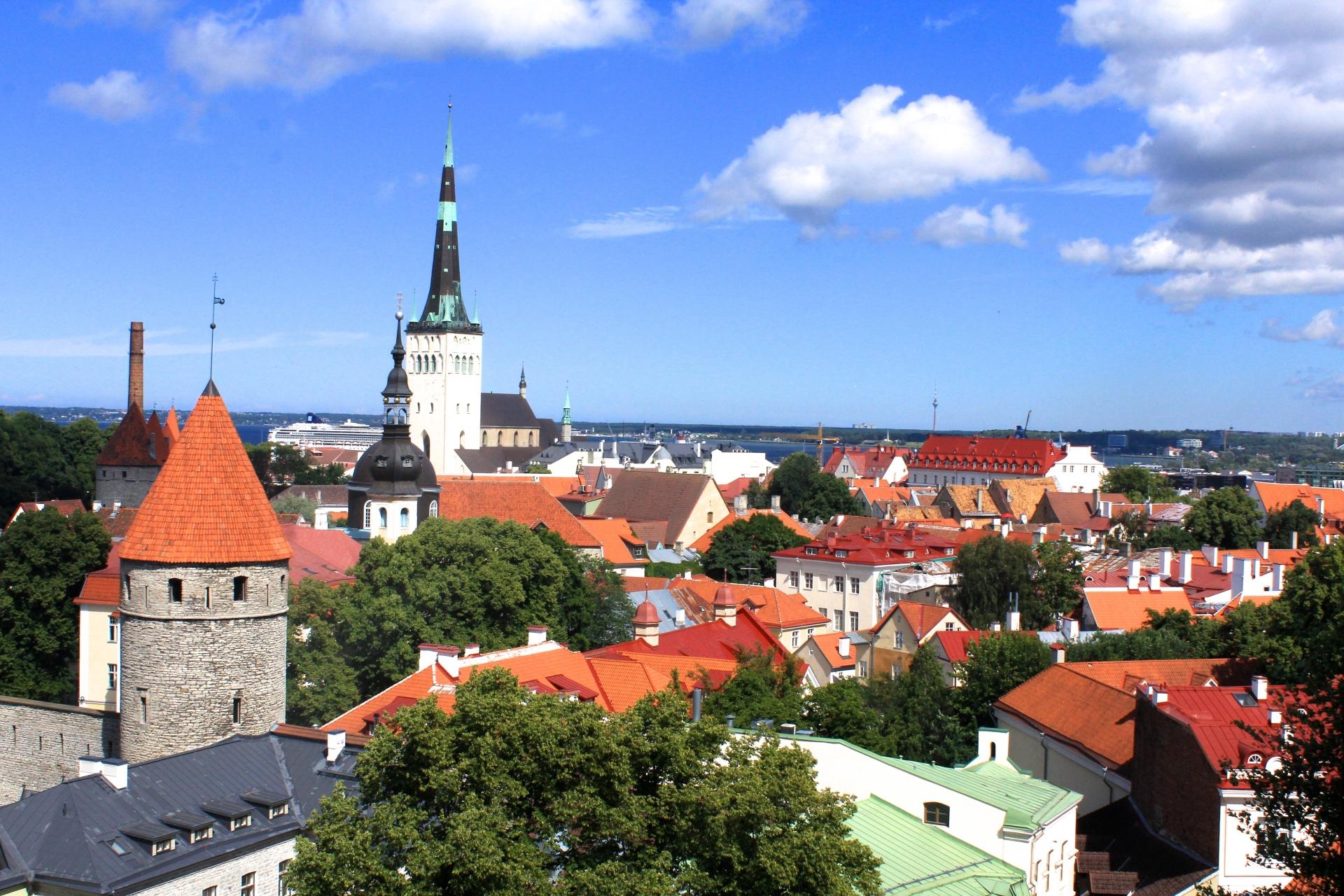 エストニア街並み