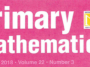 Article published in Primary Mathematics Journal