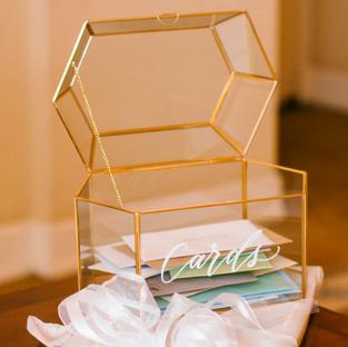 Hexagon Gold Card Box