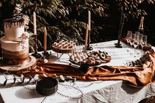 Bruidstaart + sweettable