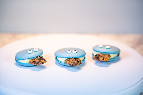 Cookie Monster Macarons - 12 stuks