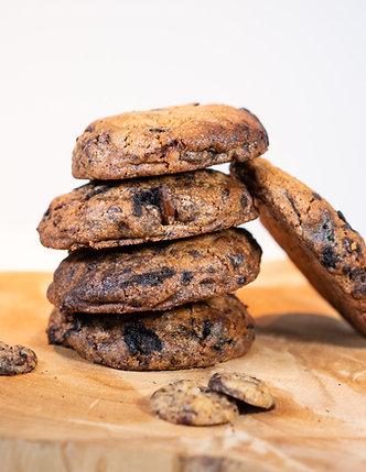 Chocolate Chip koeken met Oreo en pretzels - 4 stuks