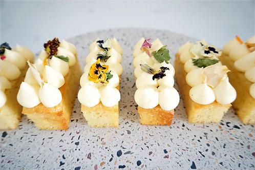 Vanille cakebars - 6 stuks