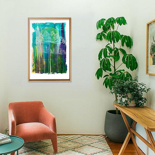 Bosque de Araucarias I, obra seriada 60x90