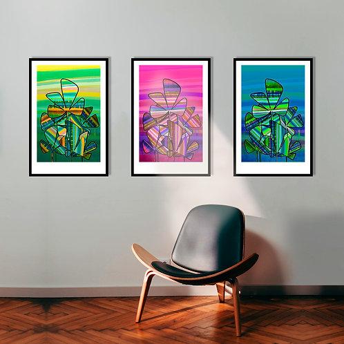 Trio Floral 40x60 seriado