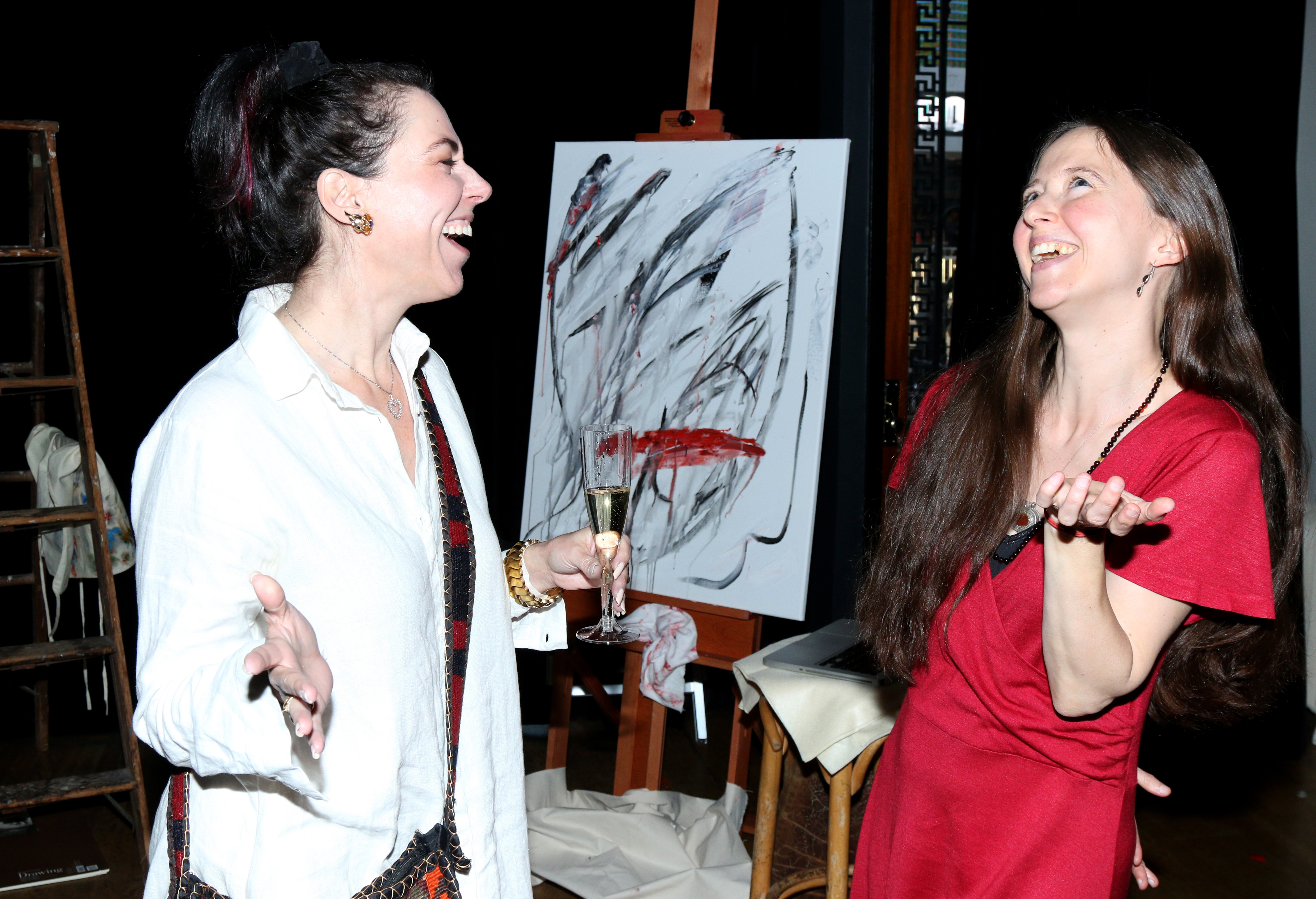 Producer Amanda Quinn Olivar with artist Elizabeth Phelps Meyer