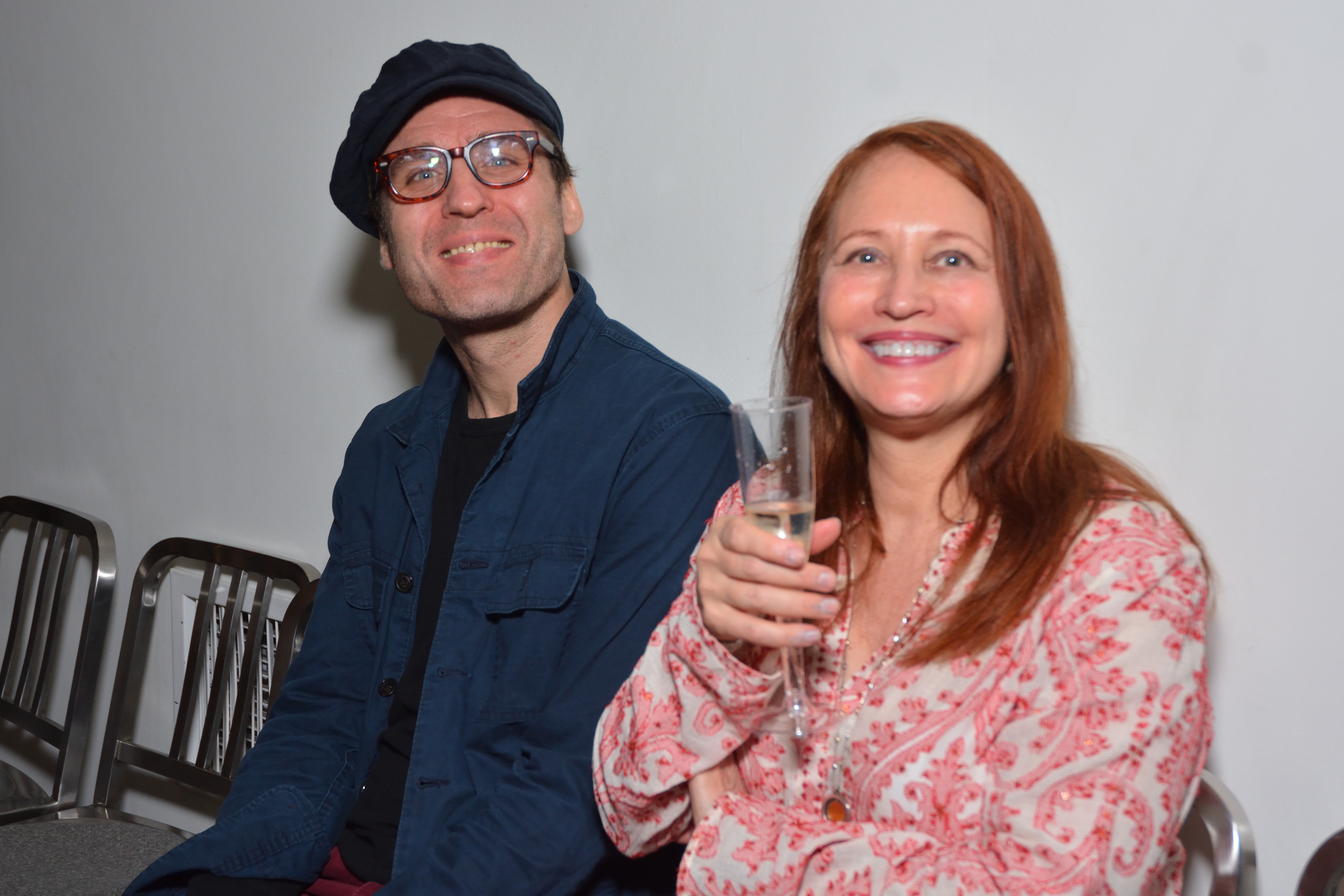 Actor Julian Elfer and artist Susan Woldman