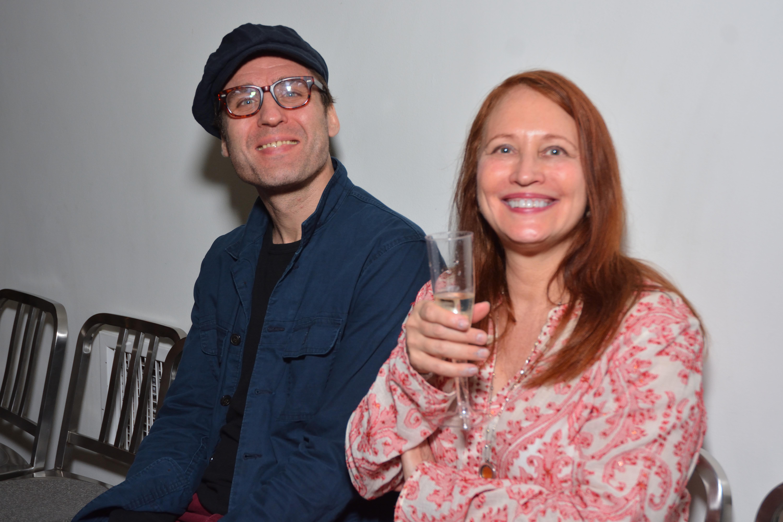 Actor Julian Elfer and artist Susan Woldman