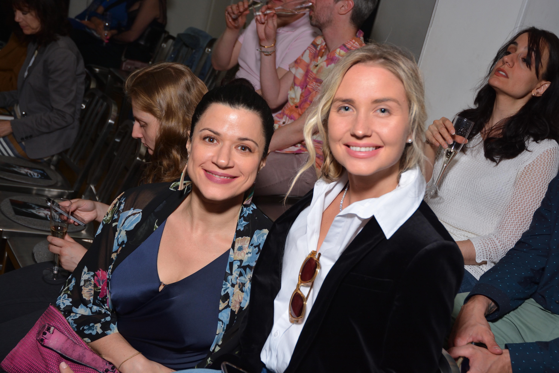 Actress Eleni Yiovas with Producer Eva Paris Cicinyte