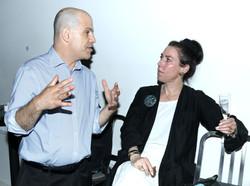 Playwright Howard Meyer with Producer Amanda Quinn Olivar