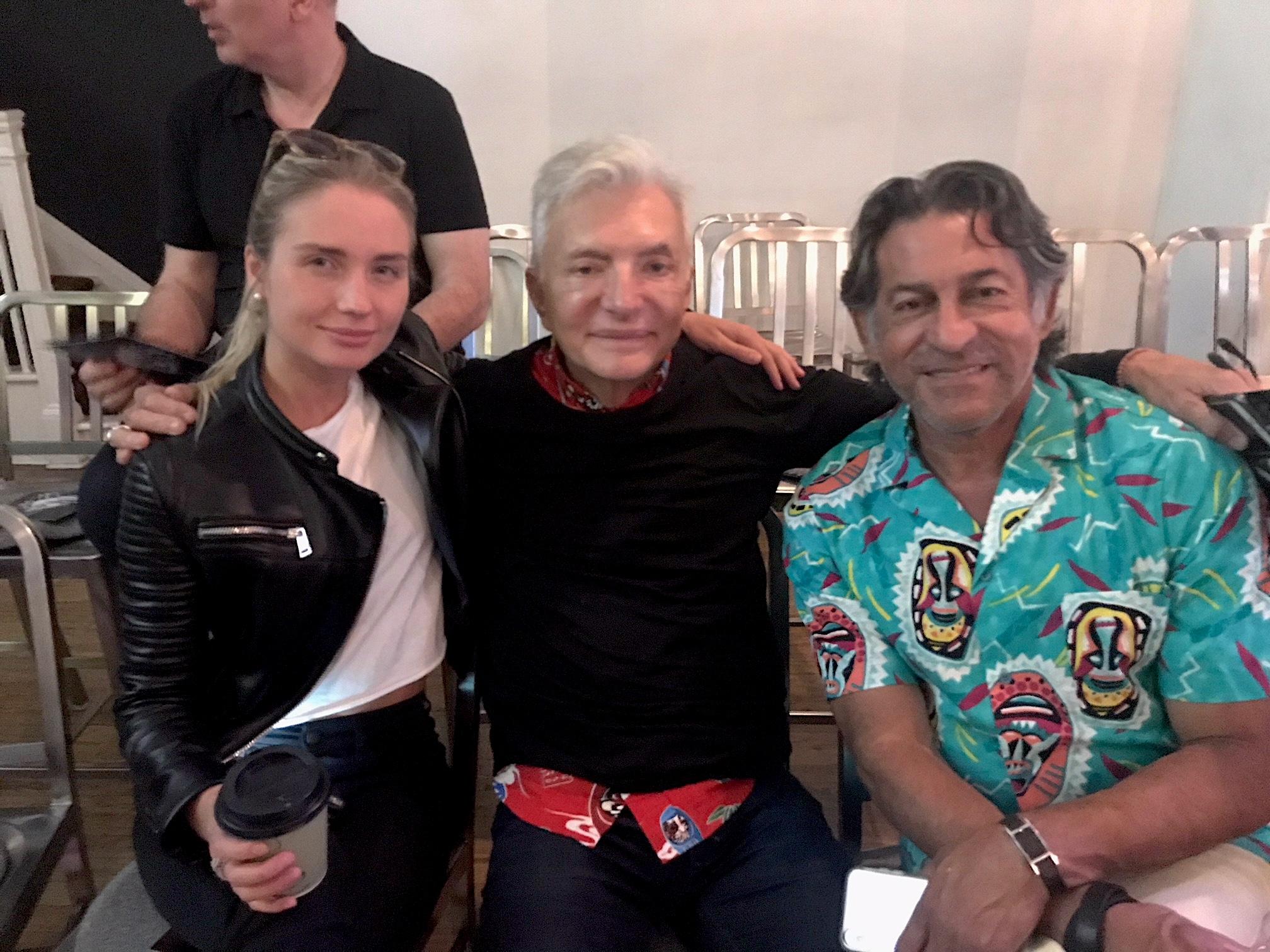 Producer Eva Paris Cicinyte with William Escalera and Francisco George