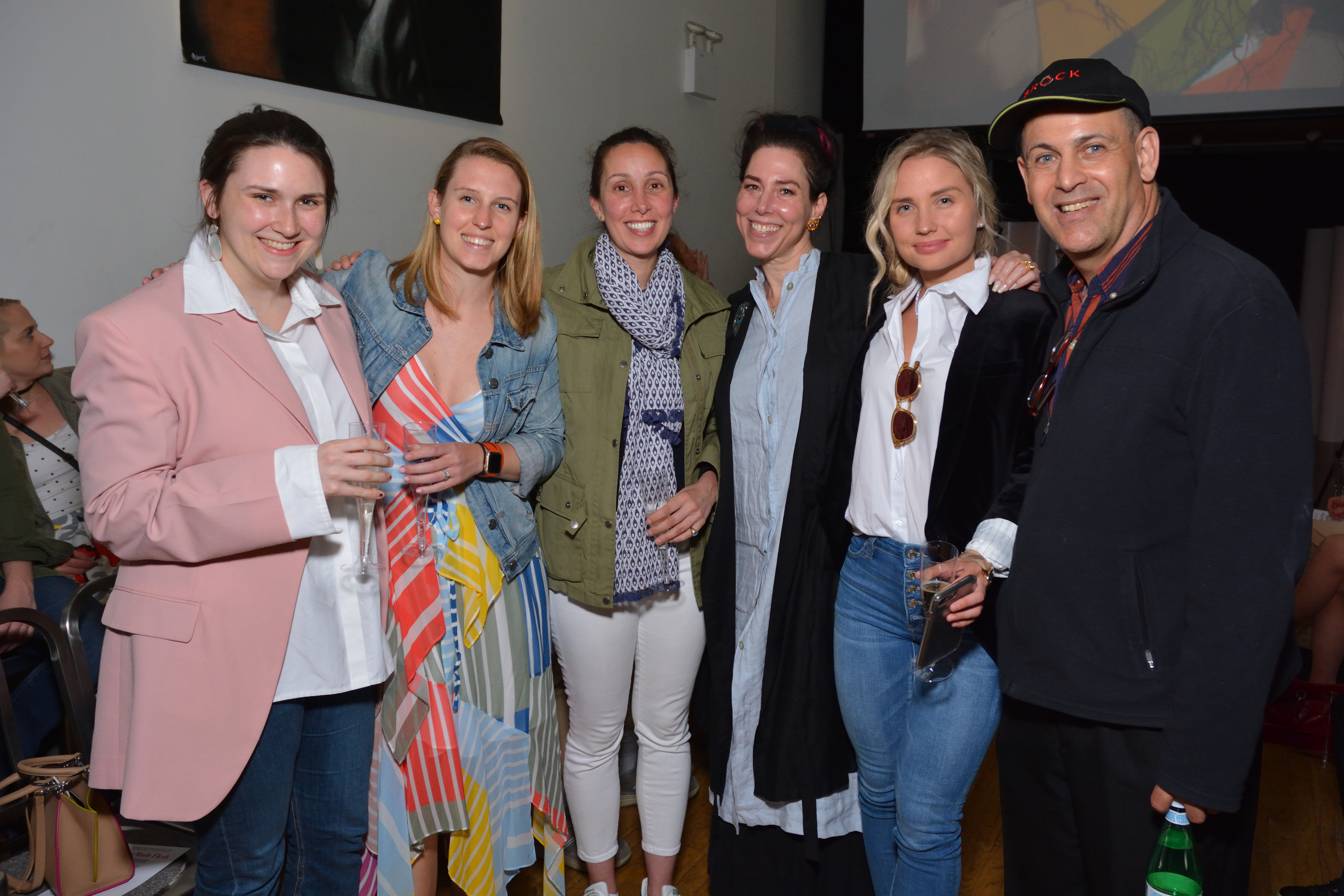 Leigh Peterson, Kelli Cross, and Claire Robertiello of Sotheby's Preferred with Producers Amanda Qui