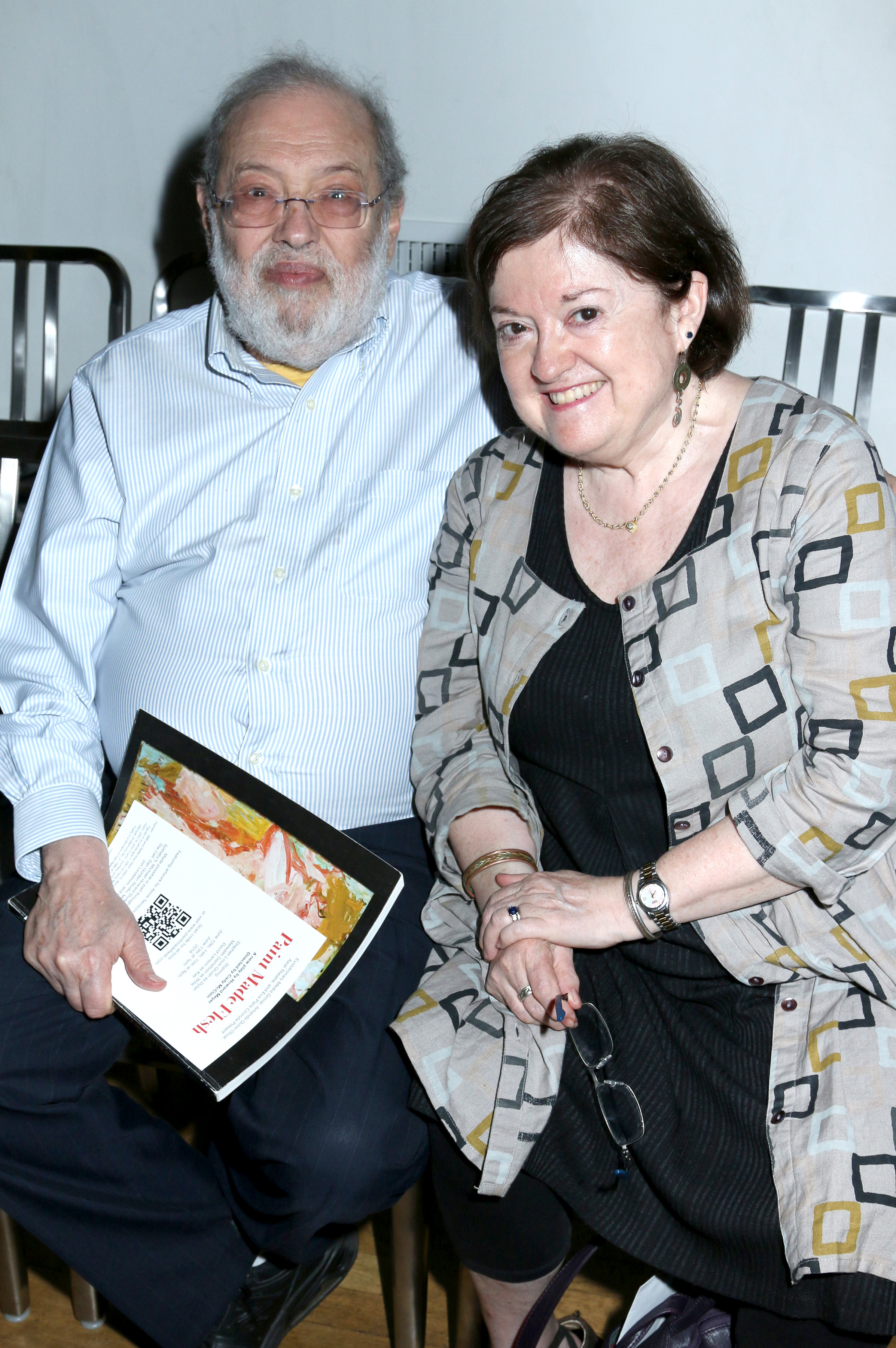 Arthur and Betsy Klampert (Axial Theater Board President and Axial Managing Director)