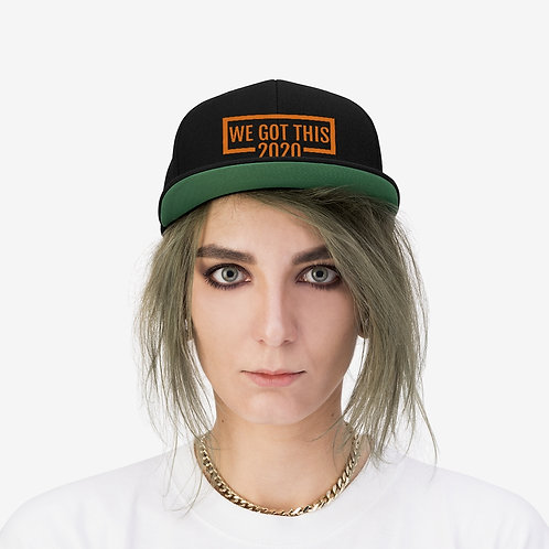 We Got This:2020 Unisex Flat Bill Hat