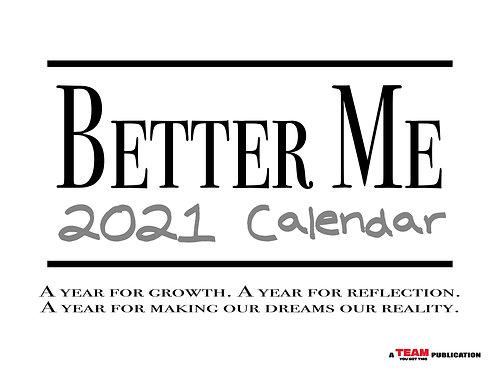 Better Me 2021 Calendar - Digital Download