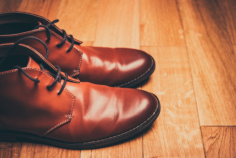 BROWN SOFT LEATHER ANKLE BOOT