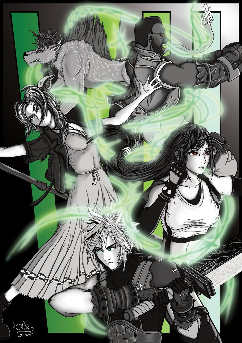 Final Fantasy 7 Remake Fan Art Poster