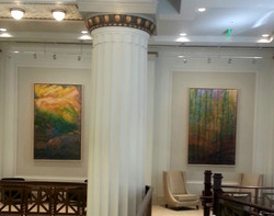 Barnes & Thornburg's lobby mezanine