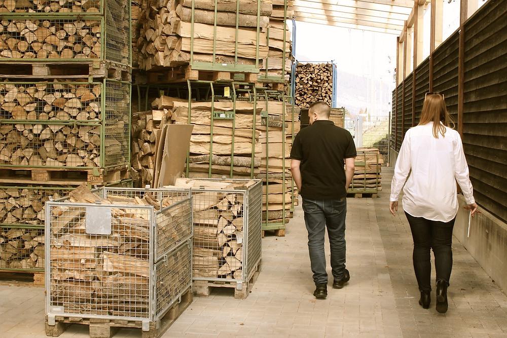 Besichtigung der Holzrösterei