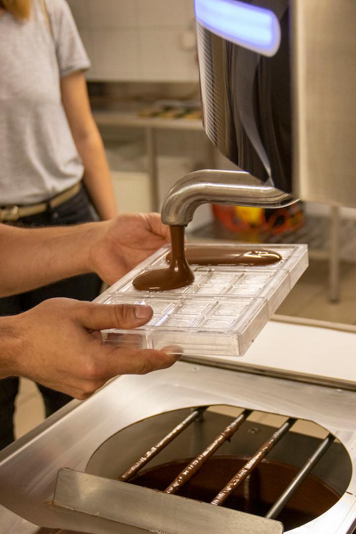 Schokolade-Produktion