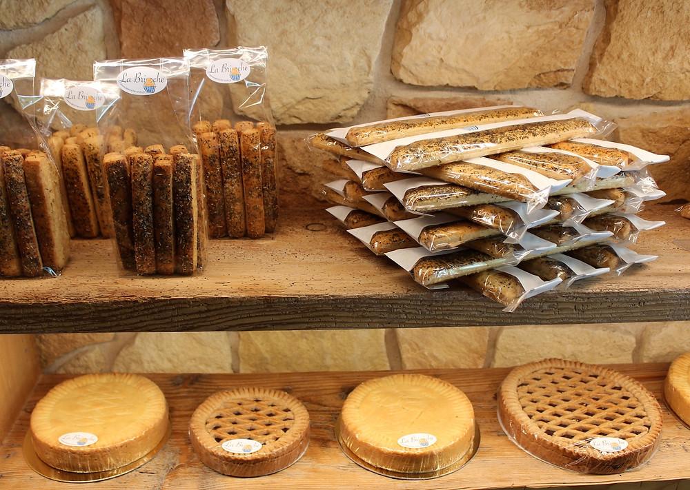 Gepäck der Bäckerei La Brioche in Orvin