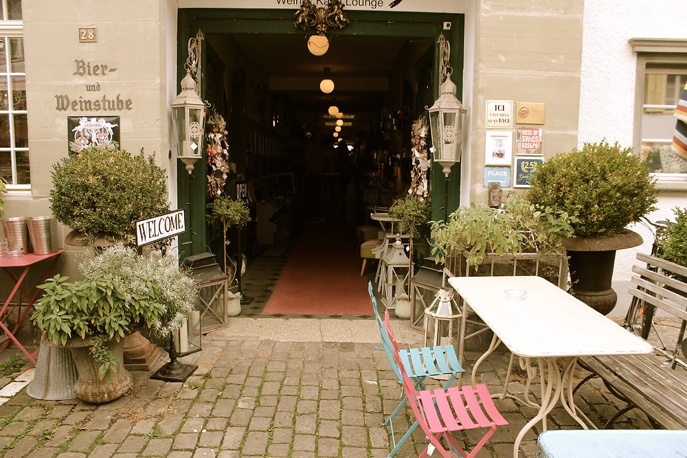 Eingang Restaurant Chesery, Murten