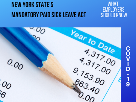 New York State's Mandatory Paid Sick Leave Act