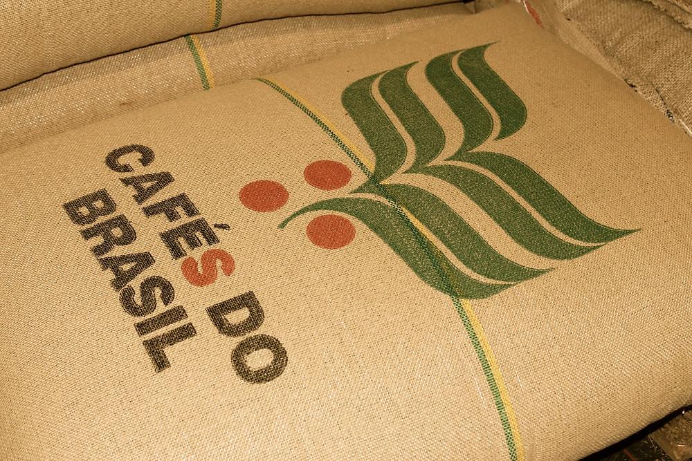 Sack mit Kaffeebohnen von Brasilien